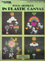 4 Mobiles in Plastic Canvas Leisure Arts 419 Airplanes Unicorns Kittens ... - $4.99