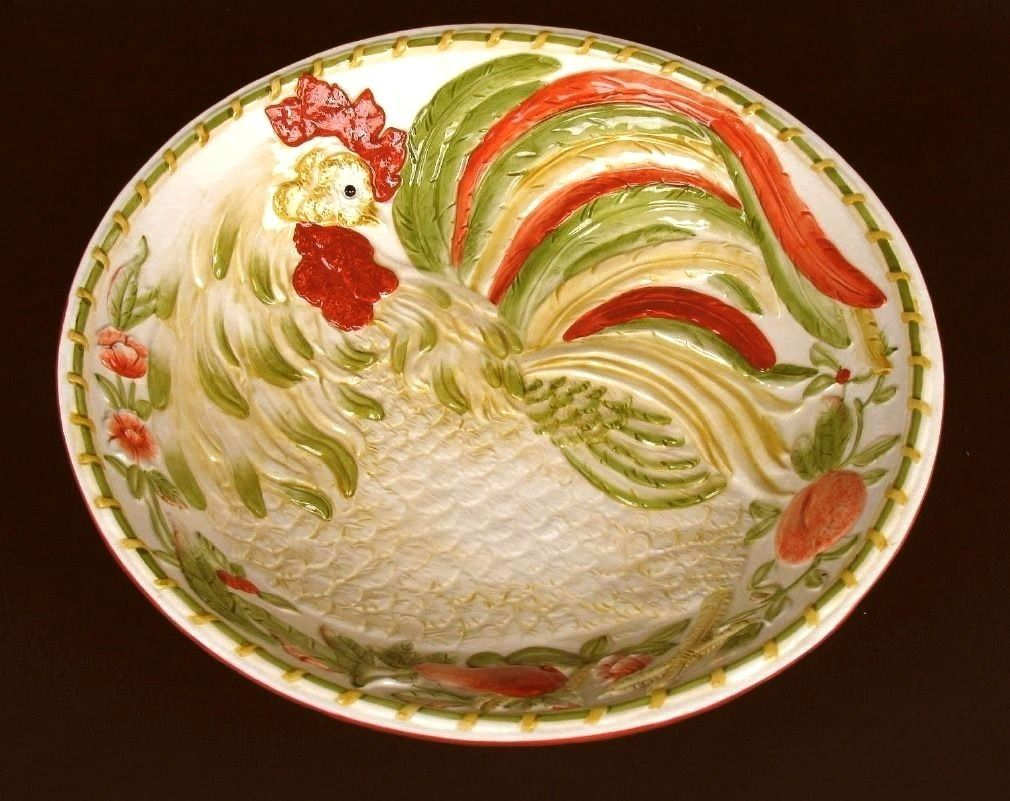 ROYAL DOULTON Chanticleer Large Rooster Serving Bowl 13""