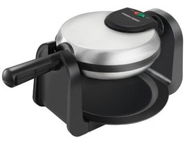 Single Large Round Belgian Waffle Maker with Ready Indicator Light BRAND... - €35,73 EUR