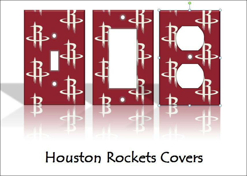 Houston Rockets Light Switch Covers Basketball NBA Home
