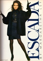 1988 Escada Gail Elliott Iman Fashion Print Advertisement Ad Vintage 1980s - $6.33