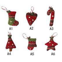 6 Types Christmas Decor Xmas Tree Drop Ornament Decor Elements TkLandon ... - $19.80