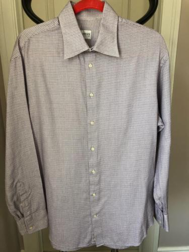 Primary image for Pre-owned ARMANI COLLEZIONI Lavender Long Sleeve Dress Shirt SZ 42/16.5