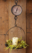 Primitive Kitchen Hanging Scale Country General Store Produce Scale Cast... - $86.45