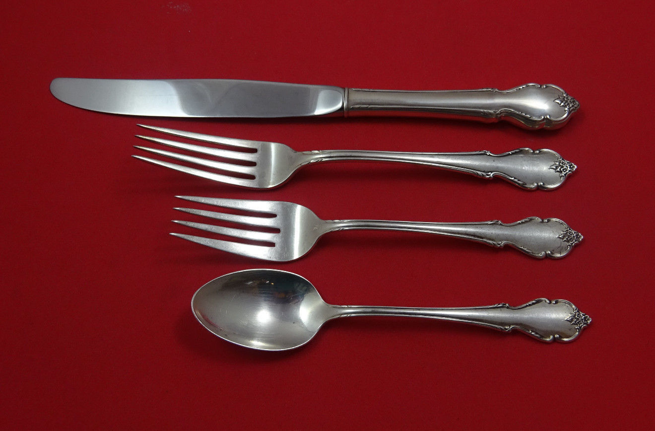Primary image for Breton Rose by International Sterling Silver Regular Size Place Setting(s) 4pc