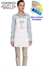 Personalized Apron with Grandmas Little Angels Embroidered Grandmother Gift - $23.99