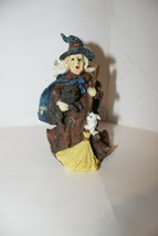 K's Collection Witty Witches - Witch Holding Dog And Bunny - No Box - $9.95