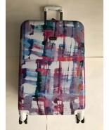 NEW Steve Madden Plaid 24 Expandable Hardside Plaid Suitcase - $112.19