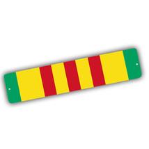 Vietnam Veteran Yellow Red Green Service Bar Design 4x18 in Aluminum Str... - $17.77