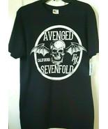 Avenged Sevenfold Women's Short Sleeve Black Large Tee Shirt  - $8.99
