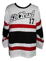 Custom Name # St. Cloud Huskies Retro Hockey Jersey New Sewn White #17 Any Size image 1