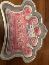 Wilton Silicone Cake Mold Crown Princess Pink Cake Pan Baking Bakeware/New - $12.99