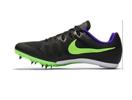 NIKE Men's Zoom Rival MD 8 Track Spike Black/Fierce Purple/Green Strike ... - $33.24