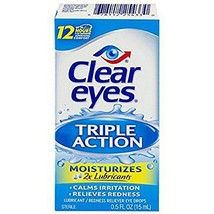 Clear Eyes Triple Action Relief Eye Drops 0.50 oz - $6.88