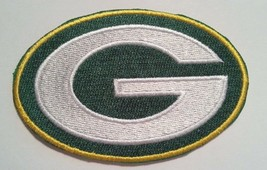 """Green Bay Packers Embroidered Helmet Logo PATCH~3 1/2"""" x 2 3/8""""~Iron Sew On~  - $4.75"""