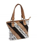 Fleur de Lune Ladies Fashion Zebra Purse - $52.45