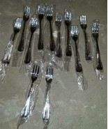 12qty Cocktail Forks GRAN ROYAL International Stainless China NOS - $24.99
