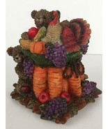 Thanksgiving Turkey Bear Fall Decor Harvest Resin Table Top Centerpiece ... - $23.37