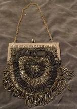 Antique Beaded 1920's Evening Bag -  Silverplate Closure - NICE DETAIL NEEDS TLC - $49.49