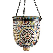 Two's Company Rio Lights Multi-Color Mosaic Hanging Lantern - $124.74