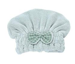 Hair Drying Towels/Shower Caps Quick-drying Towels Wipe Hair Cap,Matcha Green