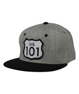 Highway 101 Hat by LET'S BE IRIE - Heather Grey Snapback - £17.26 GBP