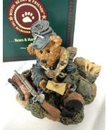 Boyds Bears Bearstone Resin Figurine Union Jack Love Letters - $35.99