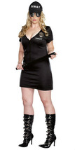 Swat Police Officer Costume - Plus Size - $23.99