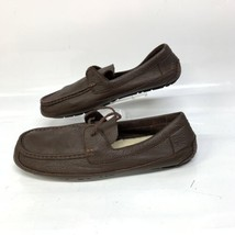 Ugg Mens Pebble Grain Casual Driving Moccasin Loafers Sz 13 Brown (SH-189) - $32.36