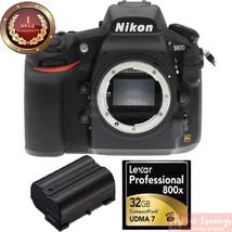 Nikon D810 FX-Format DSLR Camera Body Only W/ 32GB MEMORY CARD + EXTRA B... - $2,325.51