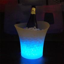 LED Waterproof Plastic Ice Bucket 5L Color Changing Nightclubs Beer Buck... - $28.49