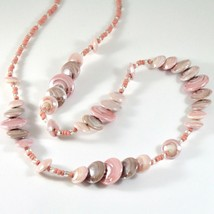Necklace Antica Murrina Venezia with Murano Glass Beige Pink Coin CO958A03 image 2