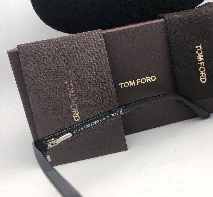 New TOM FORD Eyeglasses TF 5504 005 54-19 145 Black & Silver Frame w/ Clear