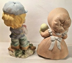 """Figurines Pair Girl Boy Homco  Flomo Resin  Doll Butterfly Collectibles 4 3/4"""" t - $9.89"""