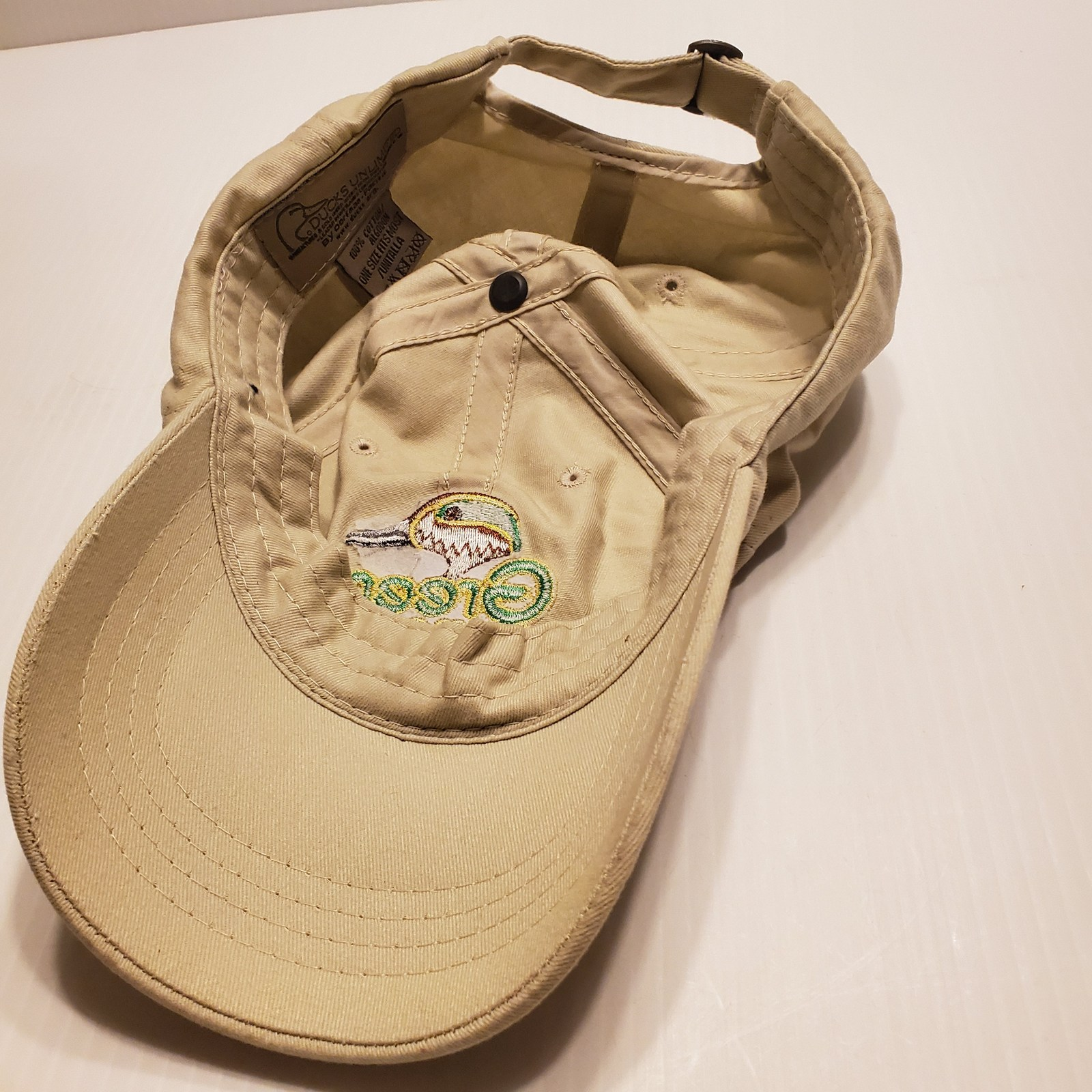 Green Wing Ducks Unlimited Adjustable Hat One Size Fits Most. Dorfman Pacific.   image 9
