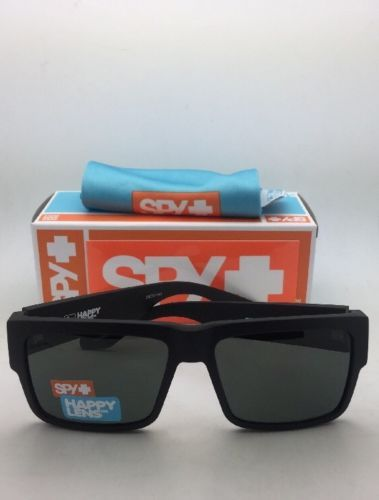 New SPY OPTIC Sunglasses CYRUS Matte Black Frames with Happy Grey-Green Lenses