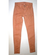New J Brand Jeans Skinny Womens Coated Peach Leather Mid 26 Tigers Eye P... - $159.00