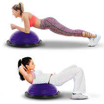 """21"""" Balance Trainer Stability Ball Pilates Yoga Core Resistance Bands Pu... - £45.91 GBP"""