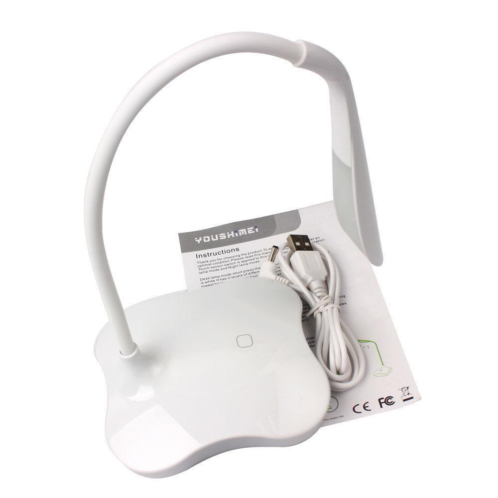 3 Level Dimmable Clover 14LED Sensor Desk Light Eye Protection Lamp Night Light