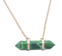 gorgeous Malachite 925 Sterling Silver Rose Gold Multi Pendant supply US... - $39.59