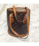 Authentic Louis Vuitton PM Bucket Monogram HandBag 10.5in x 10in x6in - $375.20