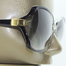 Reading Glasses Bifocal Sun Reader +1.00 Oversize Black Frame Gold Trim - $14.97