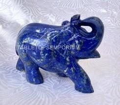 "3""x4"" Lapis Lazuli Elephant Salute Pose Sculpture Black Friday Home Deco... - $254.00"