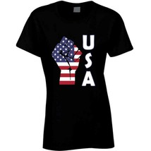 Fight Power Usa Ladies T Shirt image 2