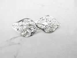 Small silver double leaf hair pin clip barrette for fine thin hair - $8.06+