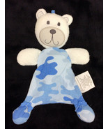 First Impression Teddy Bear Blue Boy Camouflage Security Blanket Plush - $38.69