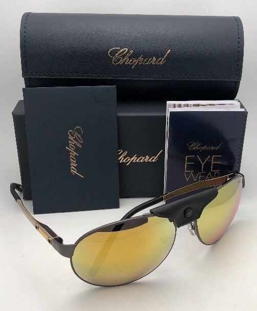 e7eb73b0287 Polarized CHOPARD Sunglasses SCH 932 K10G 62-16 135 Gold Black Gunmetal  Aviator