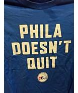 XL Philadelphia 76ers Sixers Phila Doesn't Quit 2 Sided T-Shirt Shirt Si... - $16.99