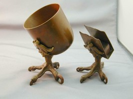 1930's Copper Art & Crafts Figural Talon Claw Smoking Set - $225.00