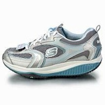 Skechers Xf Extended Fitness Accelerator 9.5 M Blue Silver Toning 12320 New - $40.50